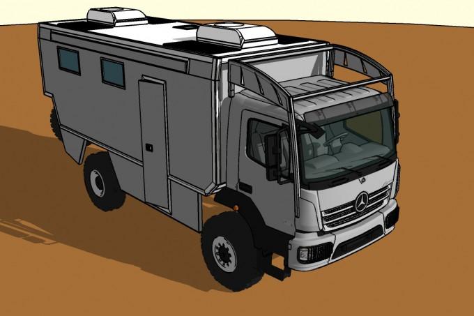 Mercedes Atego sketch